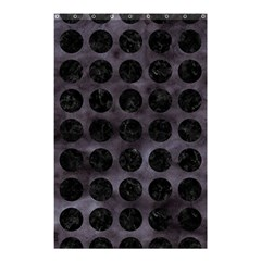 Circles1 Black Marble & Black Watercolor (r) Shower Curtain 48  X 72  (small)