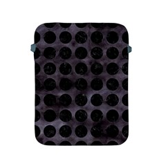 Circles1 Black Marble & Black Watercolor (r) Apple Ipad 2/3/4 Protective Soft Cases