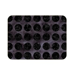 Circles1 Black Marble & Black Watercolor (r) Double Sided Flano Blanket (mini)