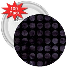Circles1 Black Marble & Black Watercolor 3  Buttons (100 Pack)