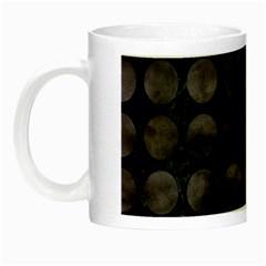 Circles1 Black Marble & Black Watercolor Night Luminous Mugs
