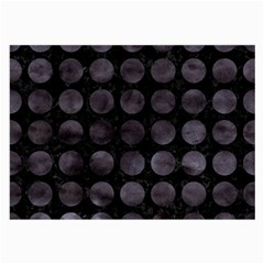 Circles1 Black Marble & Black Watercolor Large Glasses Cloth