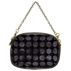 Circles1 Black Marble & Black Watercolor Chain Purses (two Sides)