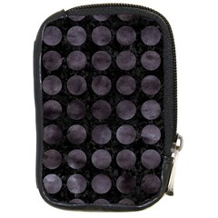 Circles1 Black Marble & Black Watercolor Compact Camera Cases