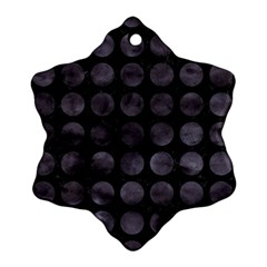 Circles1 Black Marble & Black Watercolor Ornament (snowflake)