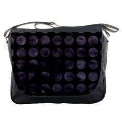 Circles1 Black Marble & Black Watercolor Messenger Bags