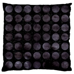 Circles1 Black Marble & Black Watercolor Large Cushion Case (two Sides)