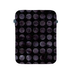 Circles1 Black Marble & Black Watercolor Apple Ipad 2/3/4 Protective Soft Cases