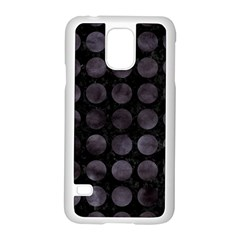 Circles1 Black Marble & Black Watercolor Samsung Galaxy S5 Case (white)