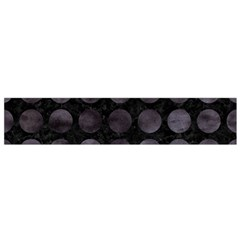 Circles1 Black Marble & Black Watercolor Flano Scarf (small)