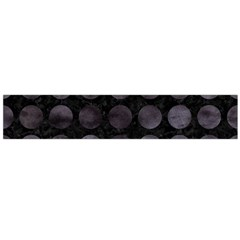 Circles1 Black Marble & Black Watercolor Flano Scarf (large)