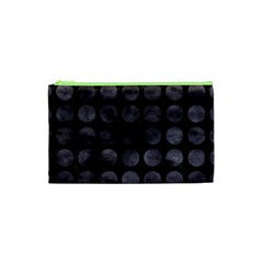 Circles1 Black Marble & Black Watercolor Cosmetic Bag (xs)