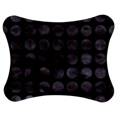 Circles1 Black Marble & Black Watercolor Jigsaw Puzzle Photo Stand (bow)