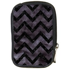 Chevron9 Black Marble & Black Watercolor (r) Compact Camera Cases