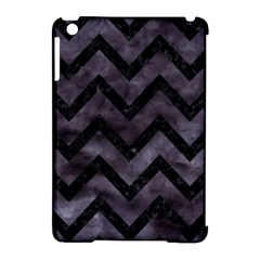 Chevron9 Black Marble & Black Watercolor (r) Apple Ipad Mini Hardshell Case (compatible With Smart Cover)