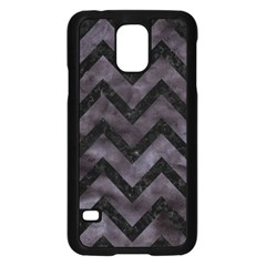 Chevron9 Black Marble & Black Watercolor (r) Samsung Galaxy S5 Case (black)