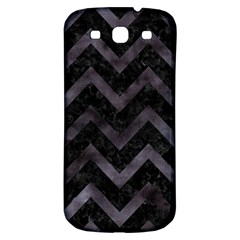 Chevron9 Black Marble & Black Watercolor Samsung Galaxy S3 S Iii Classic Hardshell Back Case