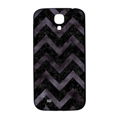 Chevron9 Black Marble & Black Watercolor Samsung Galaxy S4 I9500/i9505  Hardshell Back Case