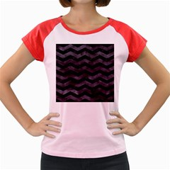 Chevron3 Black Marble & Black Watercolor Women s Cap Sleeve T Shirt