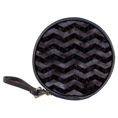 Chevron3 Black Marble & Black Watercolor Classic 20 Cd Wallets