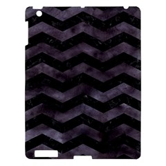 Chevron3 Black Marble & Black Watercolor Apple Ipad 3/4 Hardshell Case