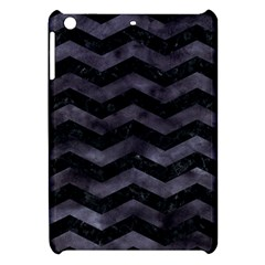 Chevron3 Black Marble & Black Watercolor Apple Ipad Mini Hardshell Case
