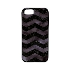 Chevron3 Black Marble & Black Watercolor Apple Iphone 5 Classic Hardshell Case (pc+silicone)