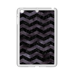 Chevron3 Black Marble & Black Watercolor Ipad Mini 2 Enamel Coated Cases