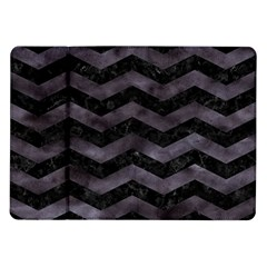 Chevron3 Black Marble & Black Watercolor Samsung Galaxy Tab 10 1  P7500 Flip Case