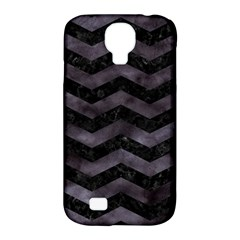 Chevron3 Black Marble & Black Watercolor Samsung Galaxy S4 Classic Hardshell Case (pc+silicone)