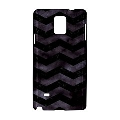 Chevron3 Black Marble & Black Watercolor Samsung Galaxy Note 4 Hardshell Case