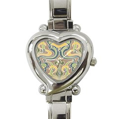 Art Nouveau Heart Italian Charm Watch