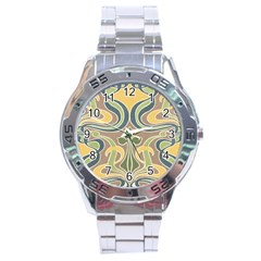 Art Nouveau Stainless Steel Analogue Watch