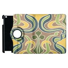 Art Nouveau Apple Ipad 3/4 Flip 360 Case