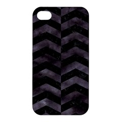 Chevron2 Black Marble & Black Watercolor Apple Iphone 4/4s Hardshell Case