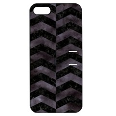 Chevron2 Black Marble & Black Watercolor Apple Iphone 5 Hardshell Case With Stand
