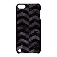 Chevron2 Black Marble & Black Watercolor Apple Ipod Touch 5 Hardshell Case With Stand