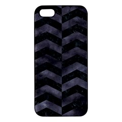 Chevron2 Black Marble & Black Watercolor Apple Iphone 5 Premium Hardshell Case