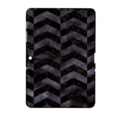 Chevron2 Black Marble & Black Watercolor Samsung Galaxy Tab 2 (10 1 ) P5100 Hardshell Case