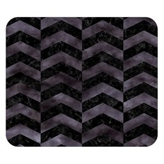 Chevron2 Black Marble & Black Watercolor Double Sided Flano Blanket (small)