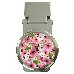 Pink Flower Bg 2 Money Clip Watches