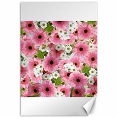 Pink Flower Bg 2 Canvas 20  X 30