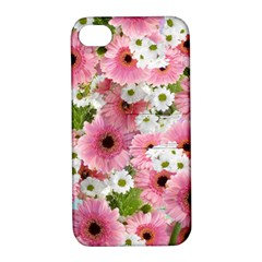 Pink Flower Bg 2 Apple Iphone 4/4s Hardshell Case With Stand