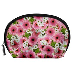 Pink Flower Bg 2 Accessory Pouches (large)