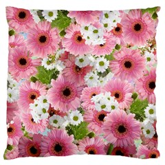 Pink Flower Bg 2 Standard Flano Cushion Case (one Side)