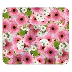 Pink Flower Bg 2 Double Sided Flano Blanket (small)