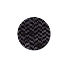 Chevron1 Black Marble & Black Watercolor Golf Ball Marker