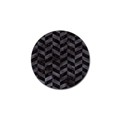 Chevron1 Black Marble & Black Watercolor Golf Ball Marker (10 Pack)