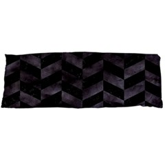 Chevron1 Black Marble & Black Watercolor Body Pillow Case Dakimakura (two Sides)