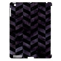 Chevron1 Black Marble & Black Watercolor Apple Ipad 3/4 Hardshell Case (compatible With Smart Cover)